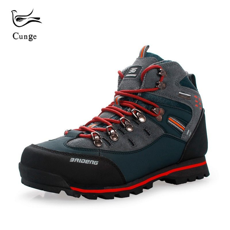 ad62f97a089 Hot Sale Men Hiking Shoes Waterproof Leather Non-slip Outdoor Shoes ...