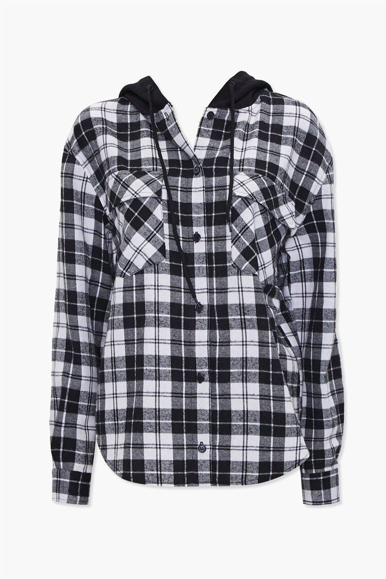 Plaid Hooded Flannel Shirt Forever 21 Hooded Flannel Hooded Shirt Flannel Shirt [ 1125 x 750 Pixel ]