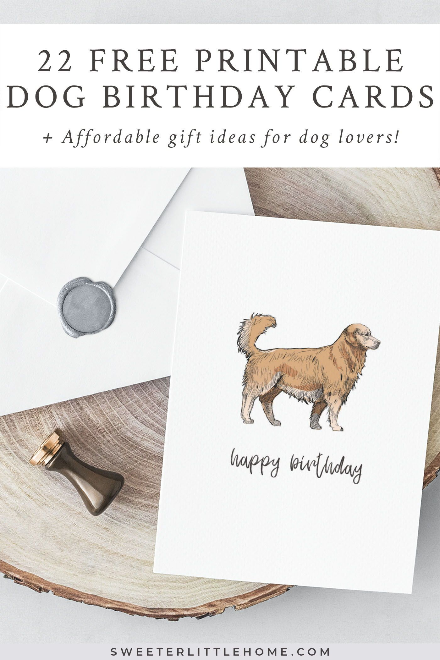Resource image within dog birthday cards printable free