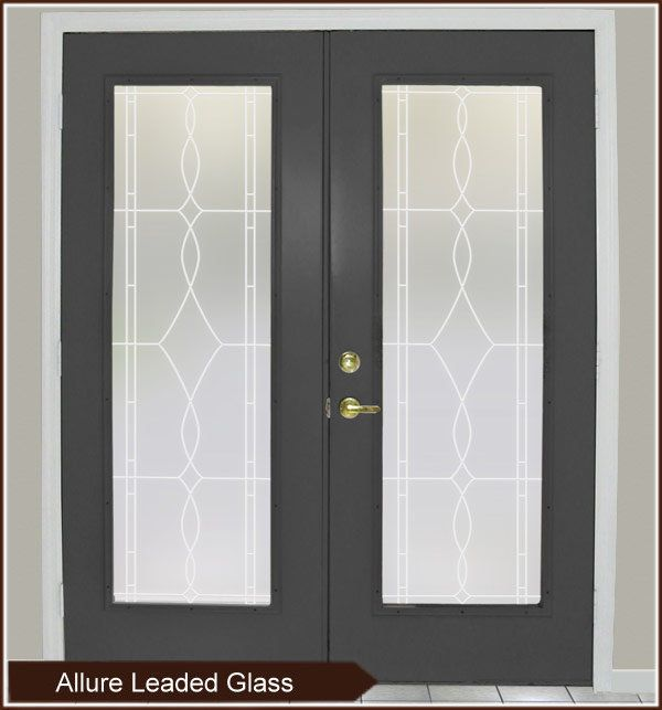 Allure Leaded Glass Privacy Window Film Static Cling French