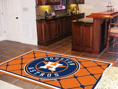 Mlb Houston Astros Team 5 X 8 Foot Area Rug Floor Decor
