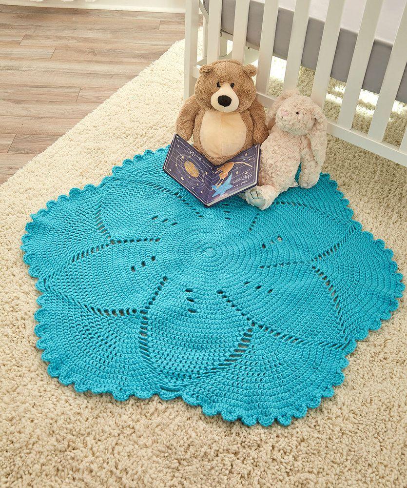 Scalloped Baby Blanket Free Crochet Pattern | MANTITAS BEBE ...