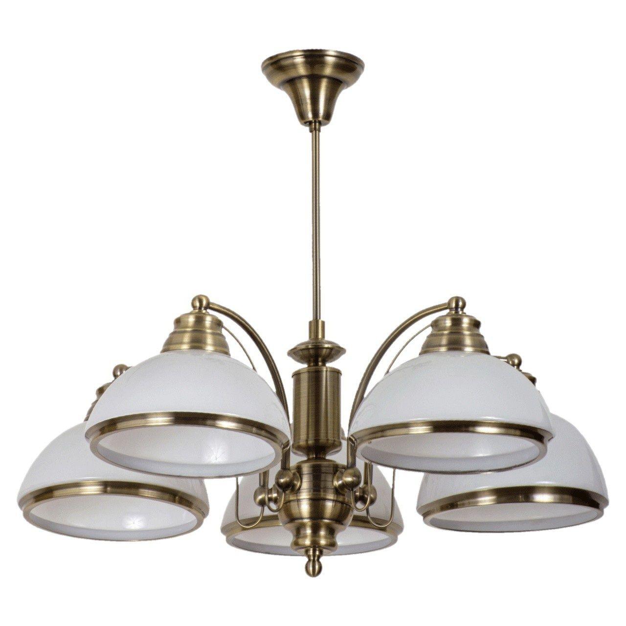 Plafonnier luminaire lustre moderne coloré en bronze, plafonniers 5 ampoules…