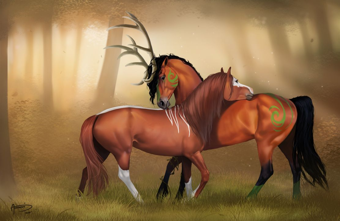Deviantarts Robot Horse: In The Heart Of The Forest By Aomori
