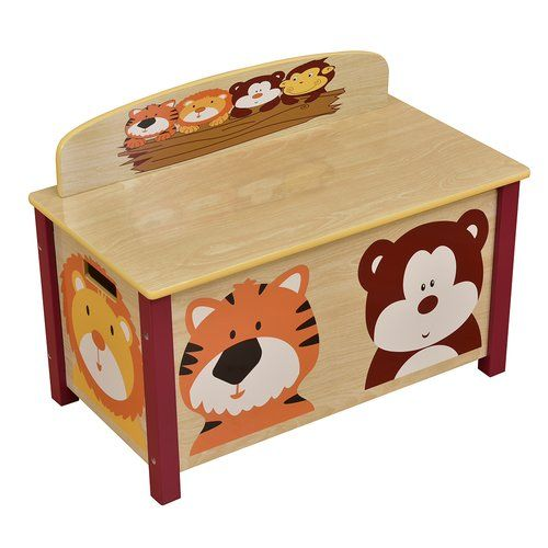 Duquette Toy Box Zoomie Kids In 2020 Big Toy Box Kid Toy Storage Toy Boxes