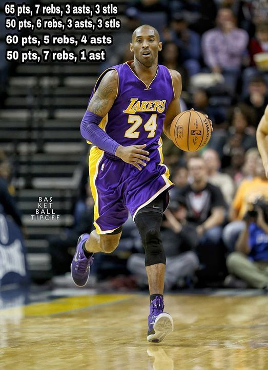 A throwback to when Kobe Bryant had an epic 4 game streak of