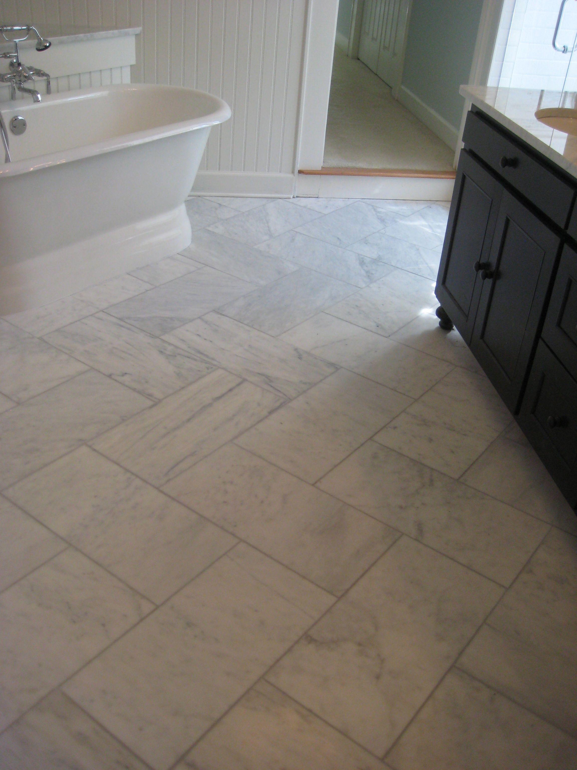 hodge bath after herringbone marble floors bathrooms pinterest rh pinterest com