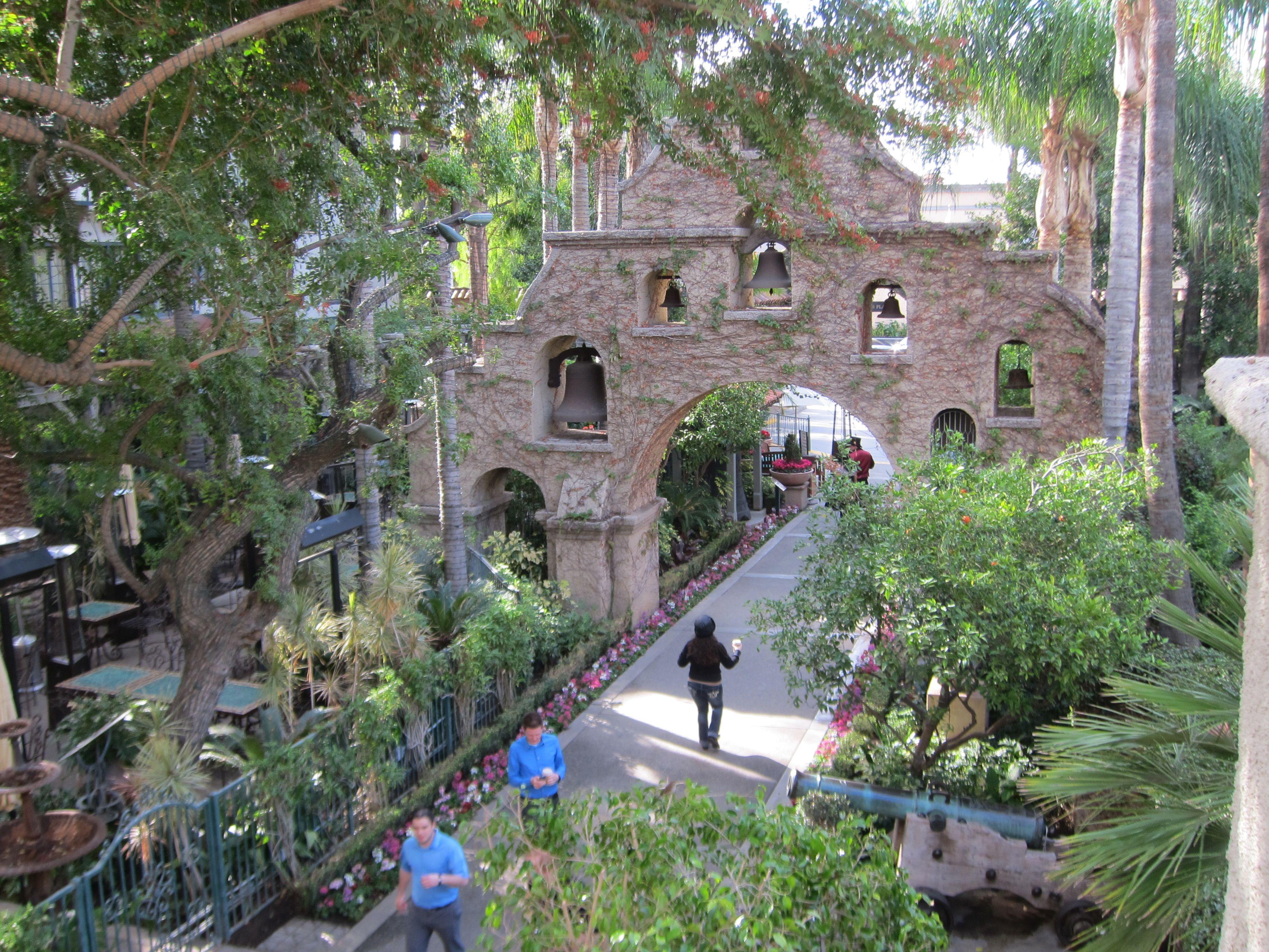 Entry of the ever-elegant historic Mission Inn, downtown Riverside.