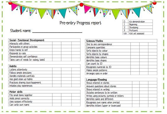 Pin by ashly on education pinterest pre school and school pre entry progress report a report template for pre entrypreschool students altavistaventures Image collections
