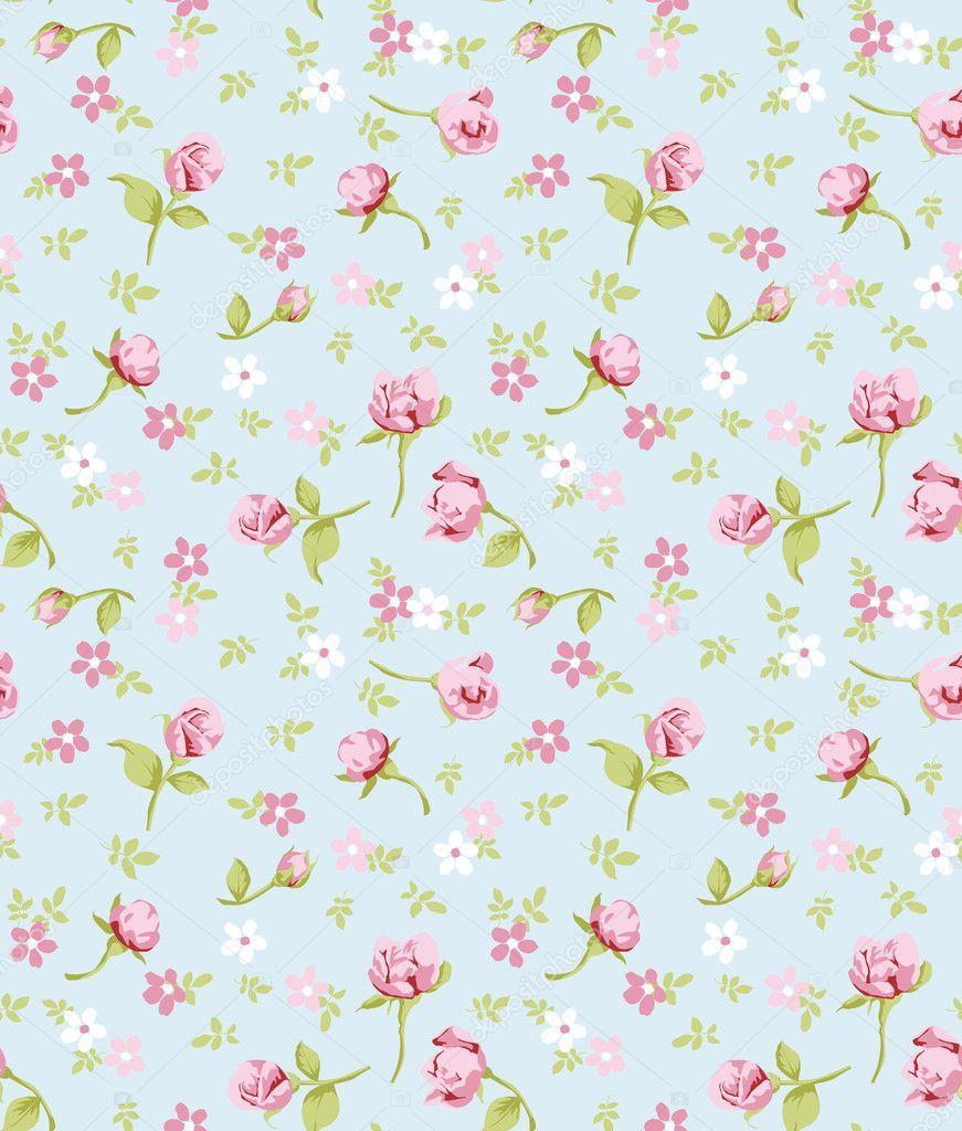 Download Vintage Flower Seamless Pattern Background Stock Illustration Vintage Flowers Background Patterns Flower Backgrounds