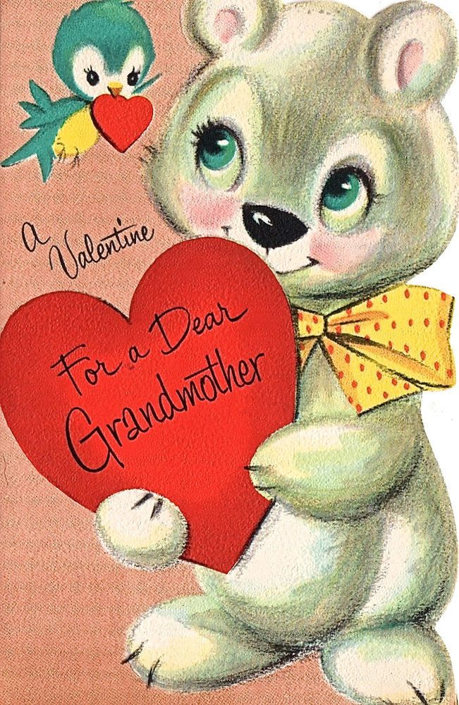 Cute Valentine Card ~   (BG 61) * 1500 free paper dolls at Arielle Gabriel's The International Paper Doll Society and The China Adventures of Arielle Gabriel for Chinese and Japanese paper dolls free *