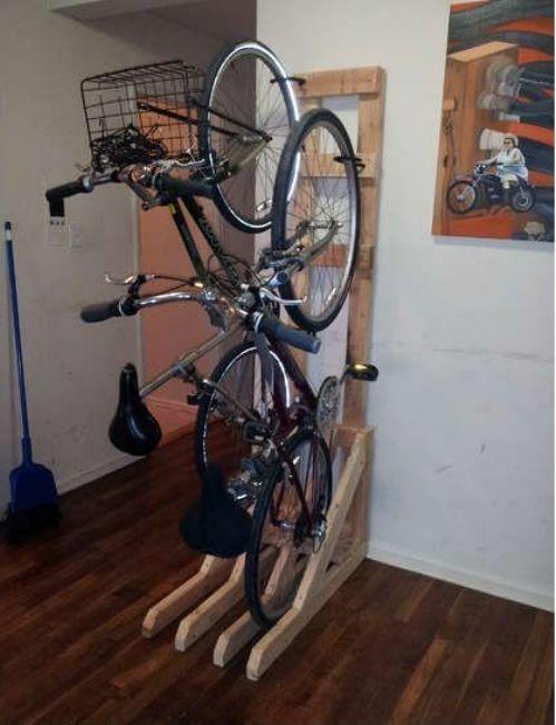 Get Innovative This Weekend 20 Photos Vertical Bike Rack Diy