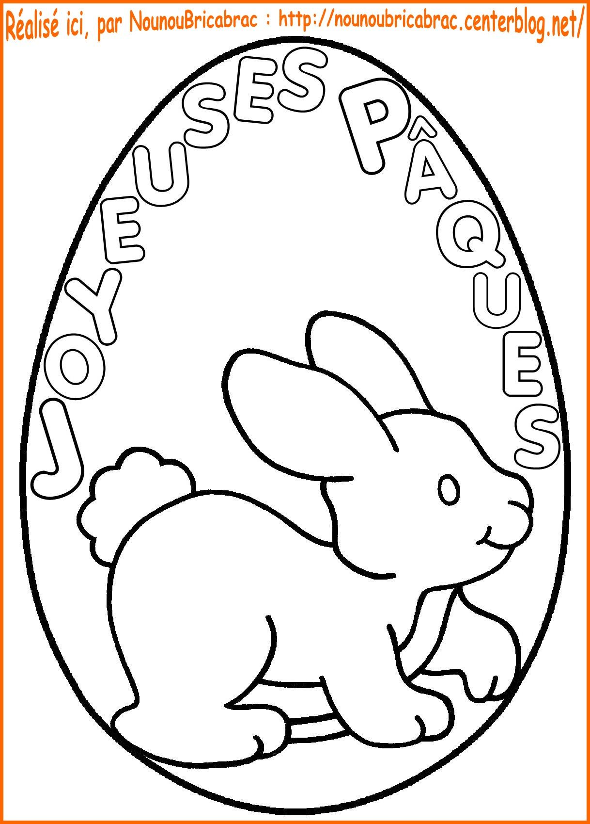 joyeuses pques colorier