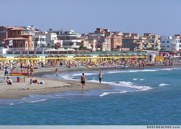 Ostia Beach In Rome Italy The Greater Area Has Lots Of Attractions Some Pretty Stretches Sand Water Side Can Get Crowded During
