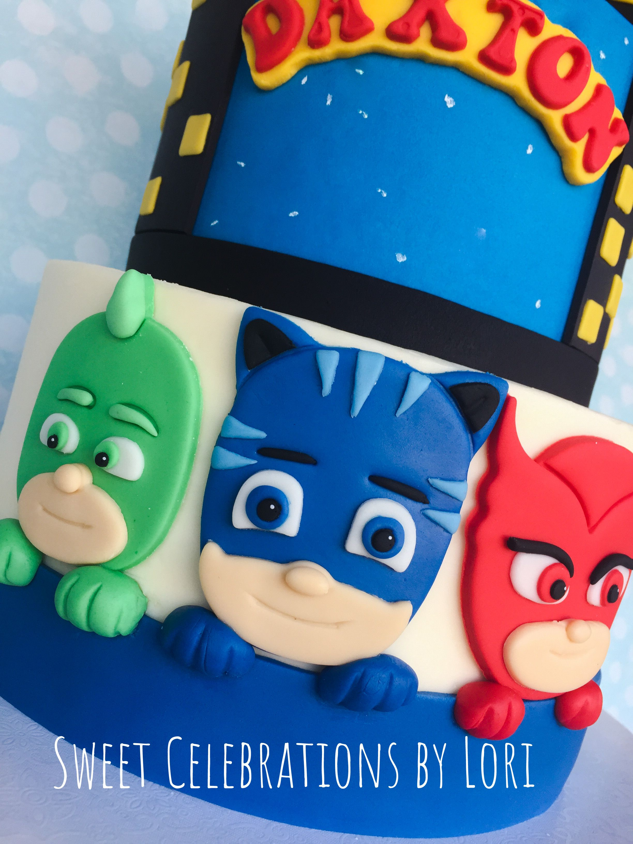 Pj mask fondant figures for cake by sweet celebrations by