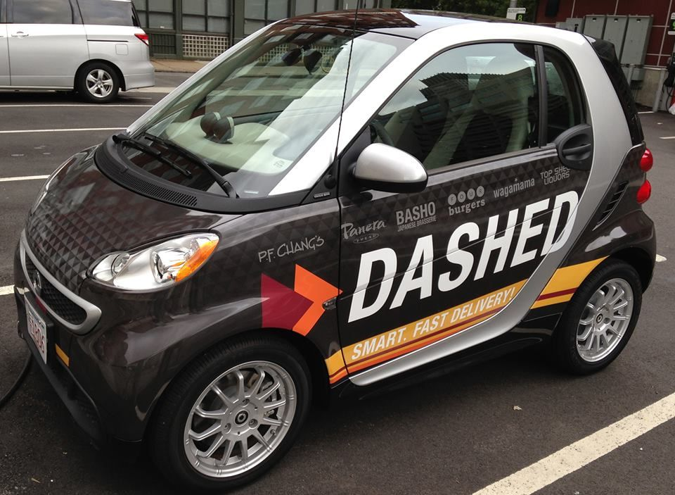 Dashed rents out smartcars to takeout delivery drivers