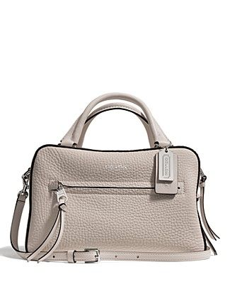 9f57daaf2b63 COACH Bleecker Small Toaster Satchel in Pebbled Leather ...