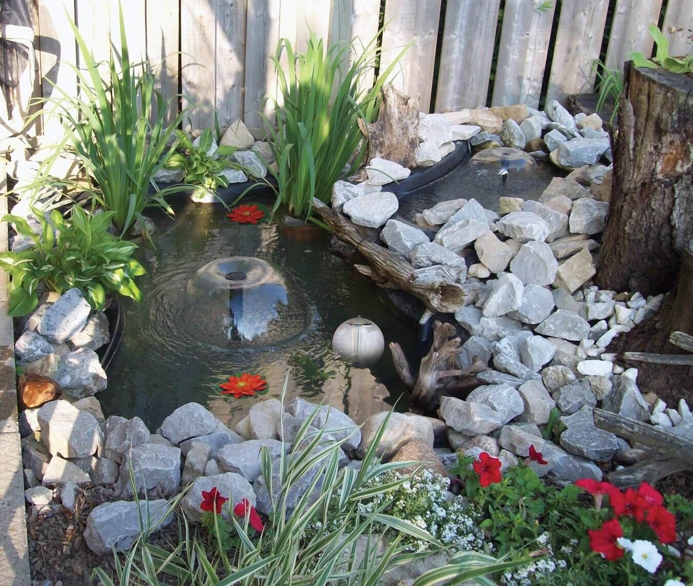 60 Backyard Pond Ideas (Photos) #smallumbrella