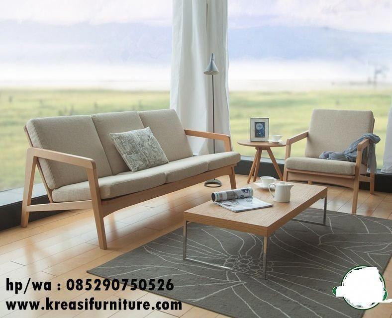 Set Kursi Tamu Scandinavian Minimalis Merupakan Set Kursi Tamu Bergaya Scandinavian Furnitur Minimalist Wood Furniture Wooden Sofa Designs Minimalist Furniture