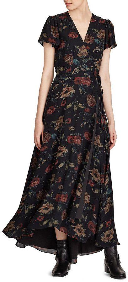 8b6b3b7297d466 Polo Ralph Lauren Silk Georgette Wrap Maxidress | Ooooh La La ...