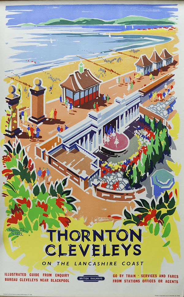 Blackpool 1 English British Railway Old Advert Retro Vintage Picture Poster