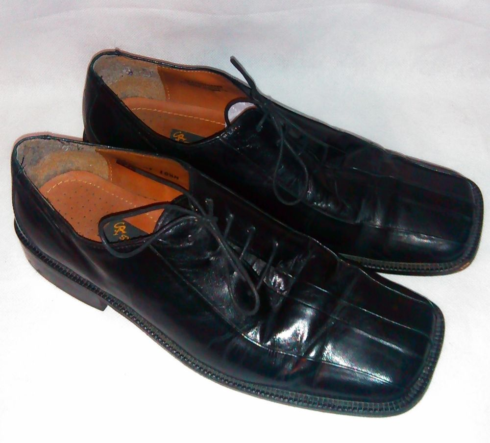 ~~ STACY ADAM Shoes ~ Black Leather Oxfords ~ Size 10 - 10.5 M ~~ #StacyAdams #Oxfords