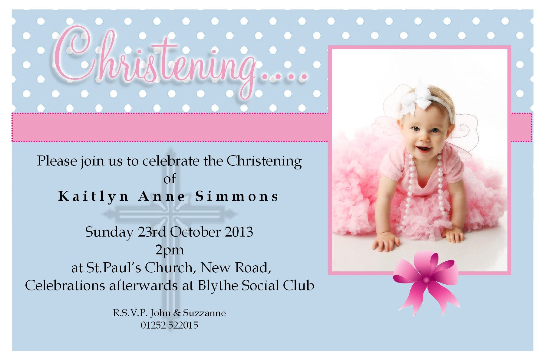 Free Christening Invitation Templates Photoshop Baptism