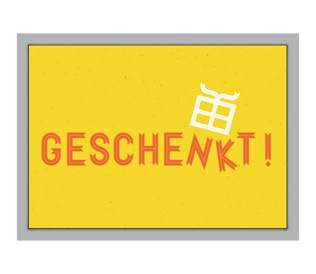 Toller Blanko Geschenk Gutschein in sonnigem Gelb: Geschenkt - http://www.1agrusskarten.de/shop/toller-blanko-geschenk-gutschein-in-sonnigem-gelb-geschenkt/    00023_0_2515, Anhänger Geschenkbeileger, Grusskarte, Gutschein Geschenkkarte, Klappkarte Geburtstag00023_0_2515, Anhänger Geschenkbeileger, Grusskarte, Gutschein Geschenkkarte, Klappkarte Geburtstag