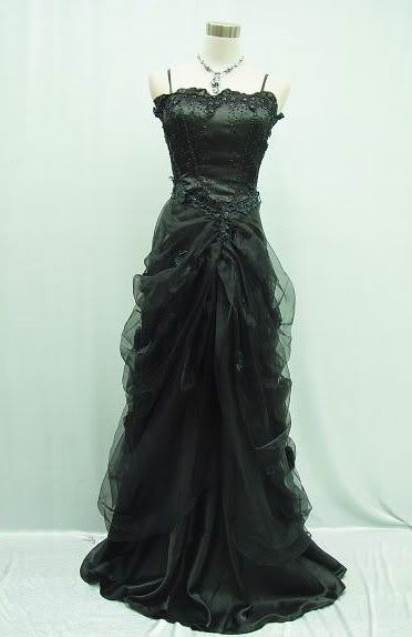 14-16 Black Masquerade Ball Dress Goth Dress SALE | eBay