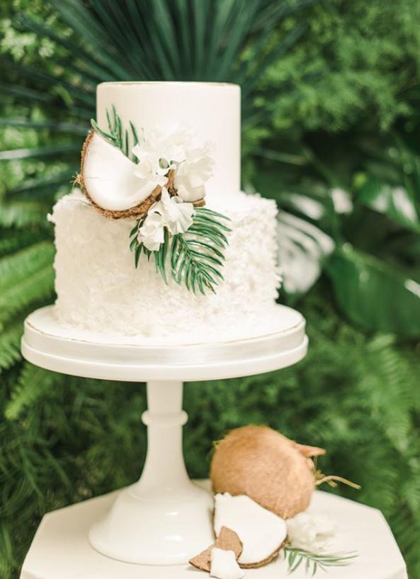 Tropical Wedding Details Tropical Wedding Cake Coconut Cake Tropical Beach Wedding Beach Tropical Wedding Cake Wedding Cake Options Hawaii Wedding Cake