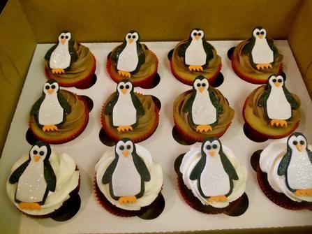 "Wrightberry's custom ""penguin"" cupcakes"