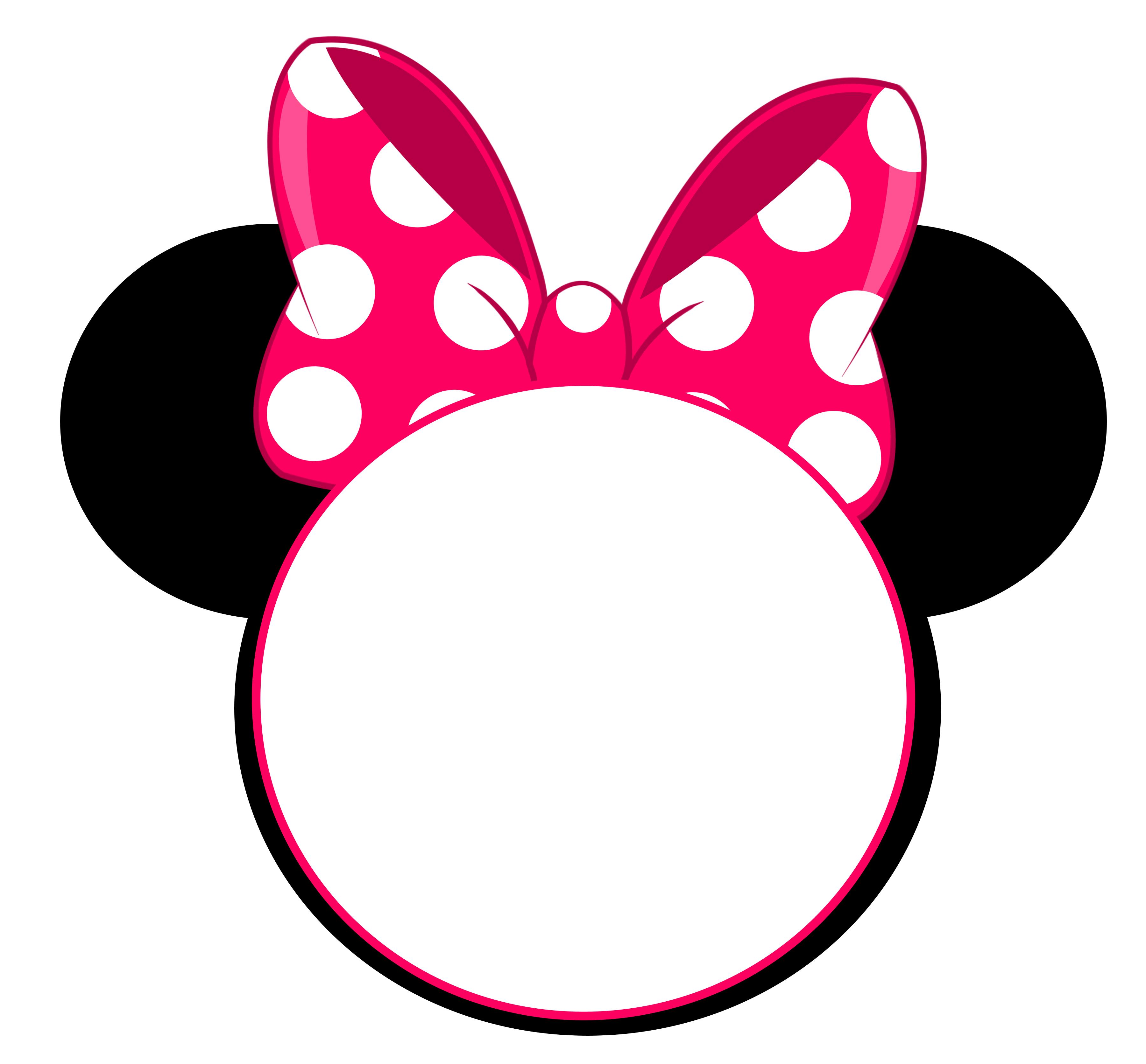 minnie mouse head invitation template