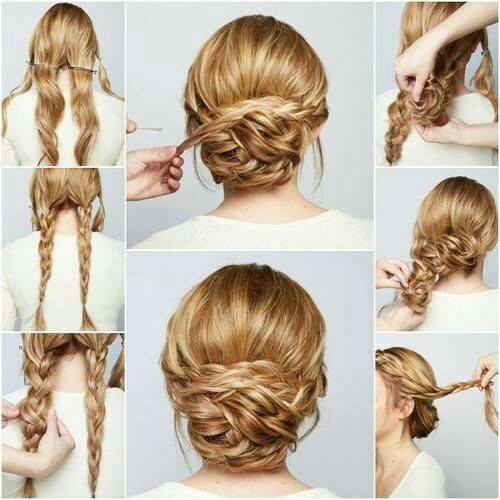 Hair bun hair pinterest hair buns updo and hair style diy braided chignon hair tutorial beauty long hair updo bun how to diy hair hair tutorial hairstyles tutorials hair tutorials easy hairstyles solutioingenieria Image collections