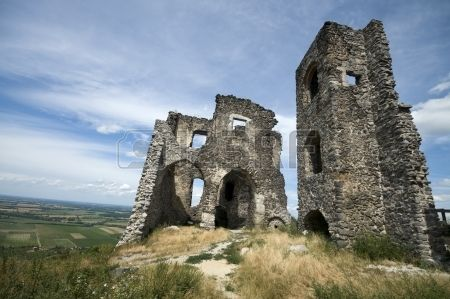 Ruins of Somlo castle Hungary Stock Photo
