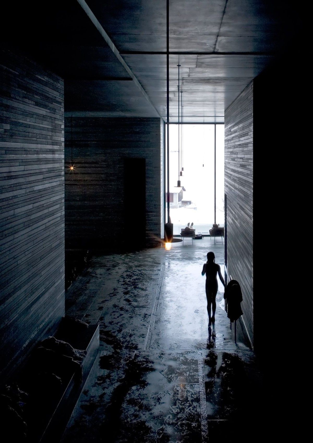 Peter Zumthor . Thermal baths and spa . Vals (19
