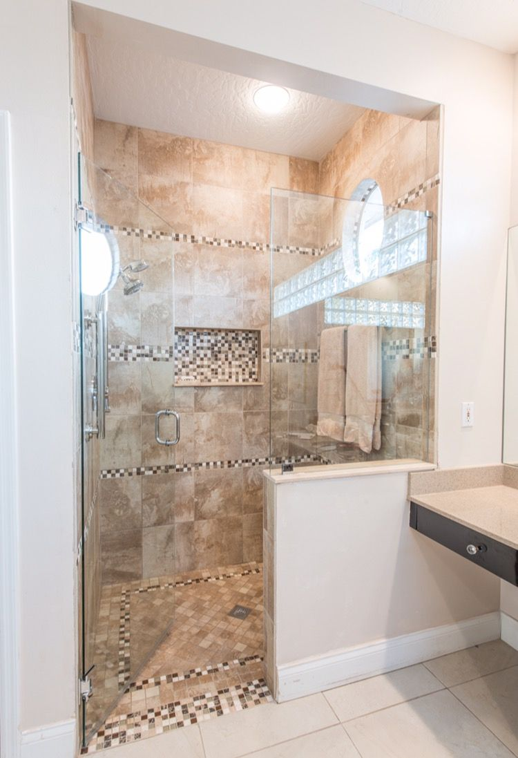 Design by brittany hutt photo flsportsguy shower wall tile vesale design by brittany hutt photo shower wall tile vesale stone in sand shower floor tile vesale stone in sand mosaic tile glass in lux installation by jj dailygadgetfo Image collections