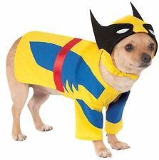Pet Dog Cat Wolverine Super Hero Halloween Clothes Fancy Dress Costume Outfit