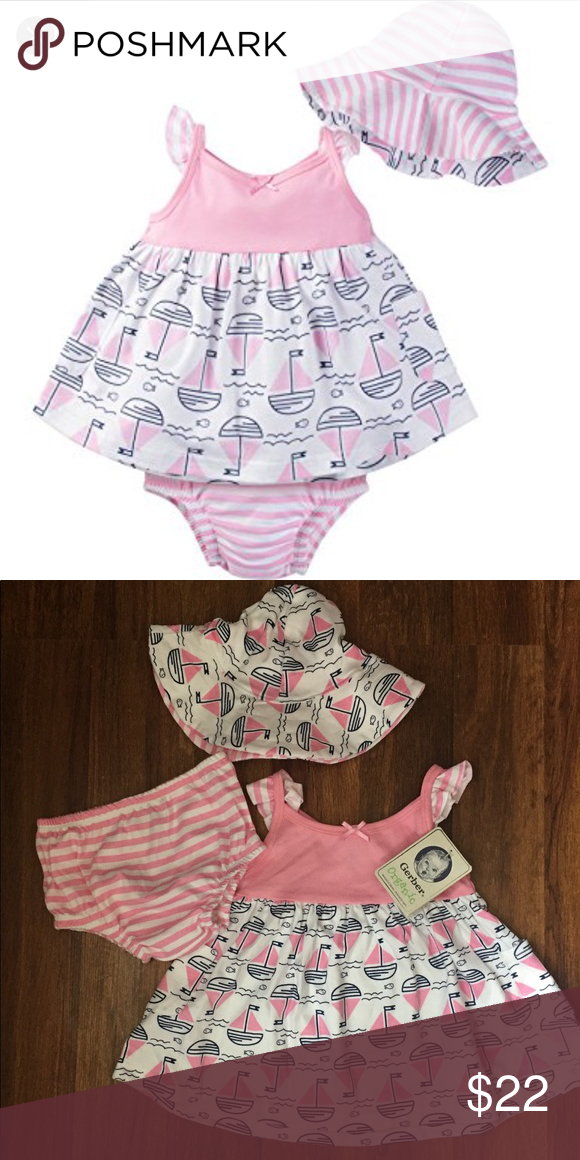 4d5b060e84e4 Gerber Organic 3 piece Set Your little girl will look adorable in ...