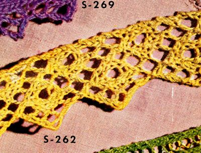 Knitted Edging Pattern From Edgings For All Purposes Clarks Ont
