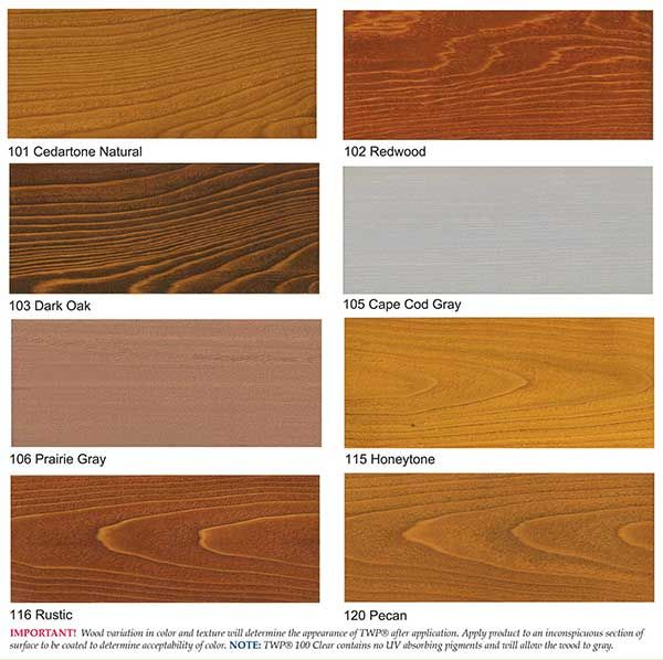 Wood Stain Samples Staining Deck Outdoor