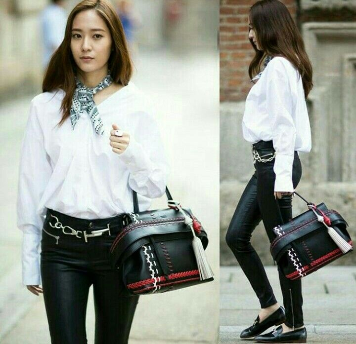 Krystal Jung All Decked In Tod 39 S Krystaljung Tods Fashion Style Simple Minimalist