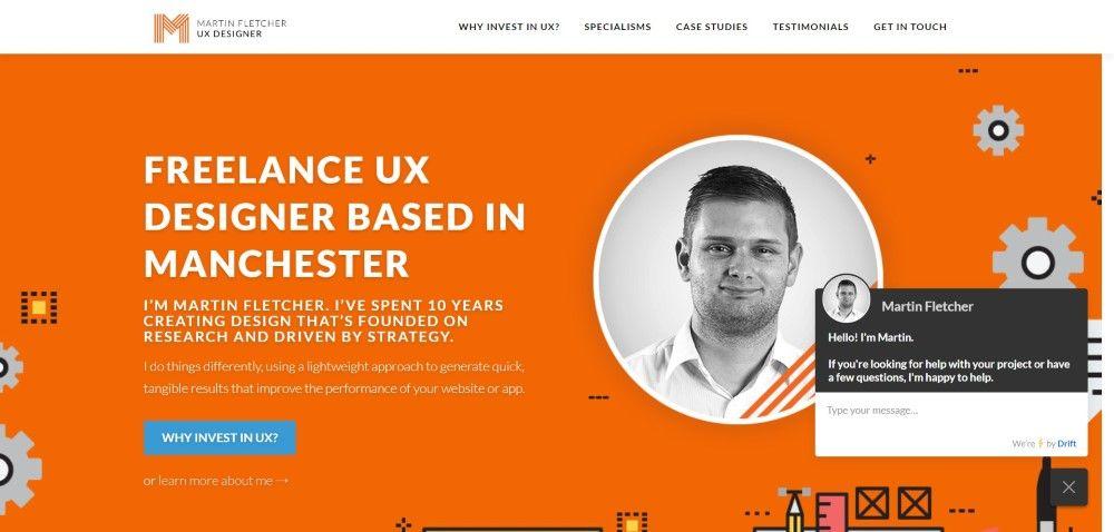 Inspiration Web Graphic Design Portfolio Martin Fletcher