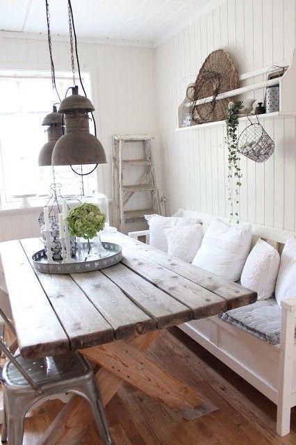 41 Rustic Farmhouse Dining Room Decor And Design Idea Small Cozy