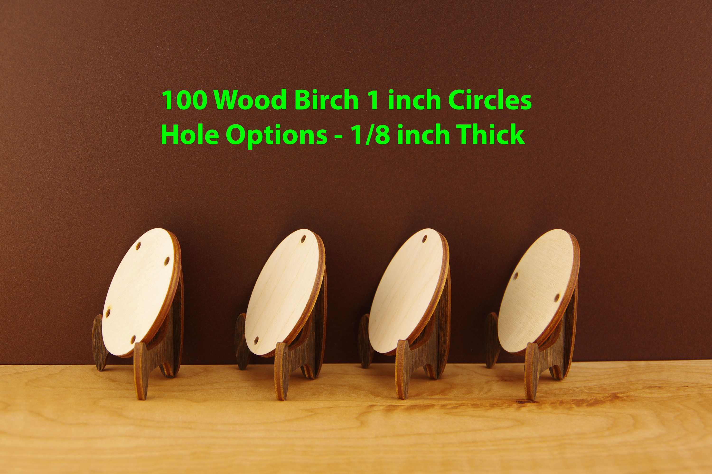 100 Wood Circles 1 Inch Round Wood Circles For Earrings Small