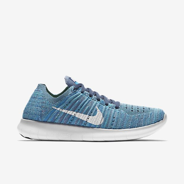 NIKE FREE RN FLYKNIT in Ocean Fog/Blue Glow/Hyper Jade/White,. Woman RunningWomen  Running ShoesNike ...