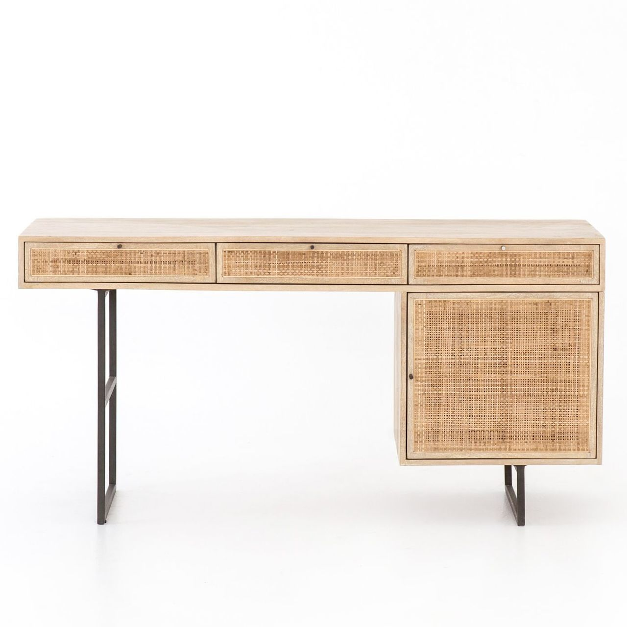 Audrey Woven Wicker Writing Desk 60