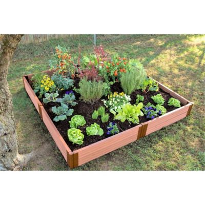 Frame It All Composite Raised Garden Bed Kit In Sienna Raised