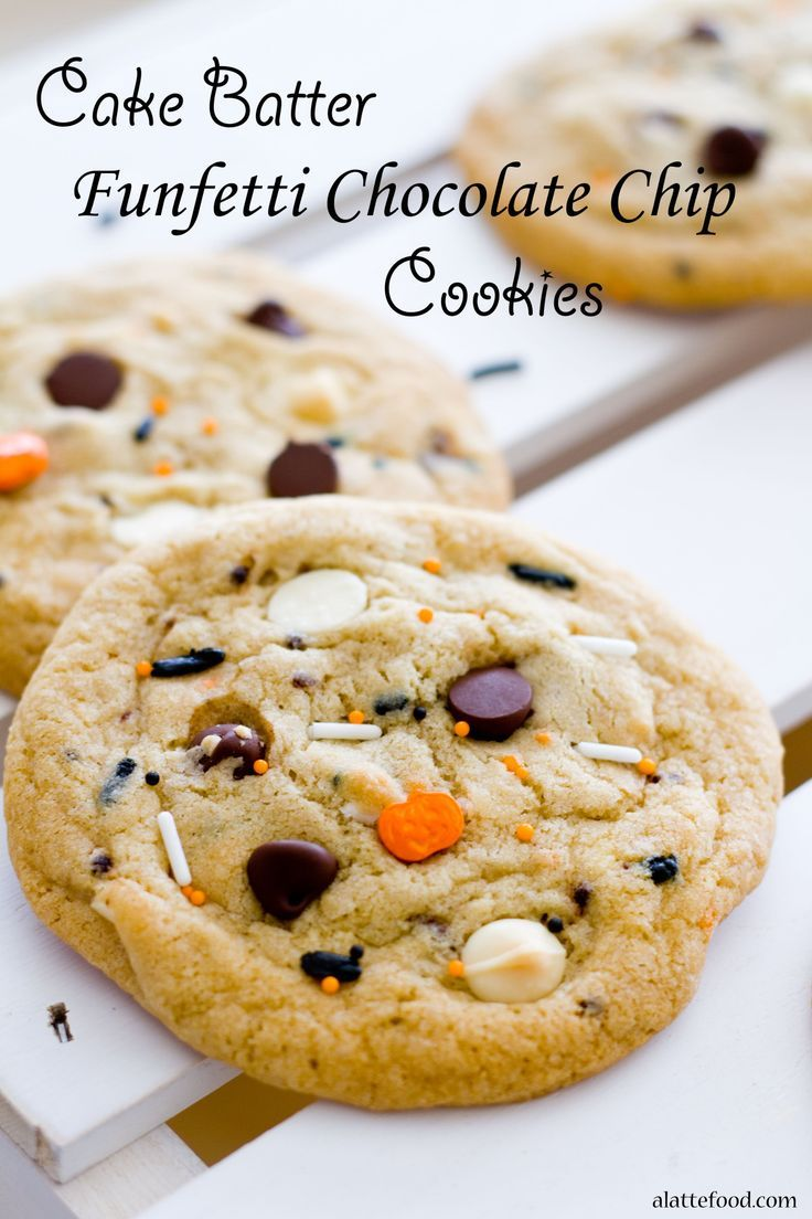 Image Result For Cake Batter Chocolate Chip Cookies From Scratch