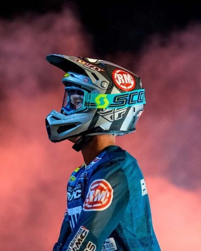 Scott Prospect Blue Teal Yellow Chrome Goggles Motocross Goggles