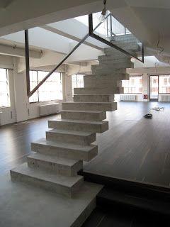 Arte Y Arquitectura Diseno Escaleras Interiores En Hormigon - Diseo-escaleras-interiores